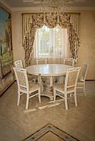Стол со стульями из массива ясень