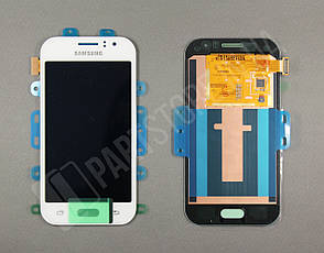 Дисплей Samsung j110 white j1 2015 (GH97-17843A) сервисный оригинал, фото 2
