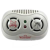 Ультразвуковой отпугиватель насекомых и грызунов Super Ultrasonic AR166B, фото 1