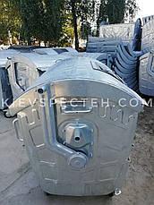 Евроконтейнер 1,1 м3, оцинкованный для ПЭТ, сетчатый с замком на крышке., фото 3