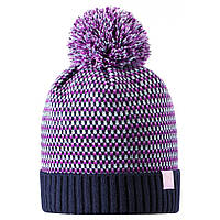 Зимняя шапка-бини для девочки Lassie by Reima Neida 728766-6951. Размеры 46/48, 50/52 и 54/56., фото 1