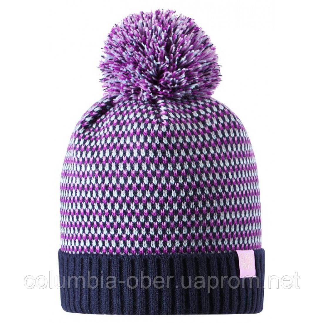 Зимняя шапка-бини для девочки Lassie by Reima Neida 728766-6951. Размеры 46/48, 50/52 и 54/56.