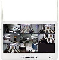 Комплект видеонаблюдения беспроводной DVR KIT Full HD UKC CAD-1308 LCD 13.3' WiFi 8ch набор на 8 камеры, фото 1