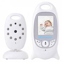Видеоняня Baby Monitor VB - 601 на аккумуляторах с двусторонней связью, мелодиями и термометром, фото 1