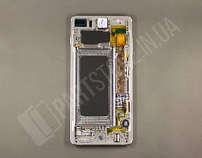 Дисплей Samsung g975 White s10+ (GH82-18849B) сервисный оригинал в сборе с рамкой, фото 2