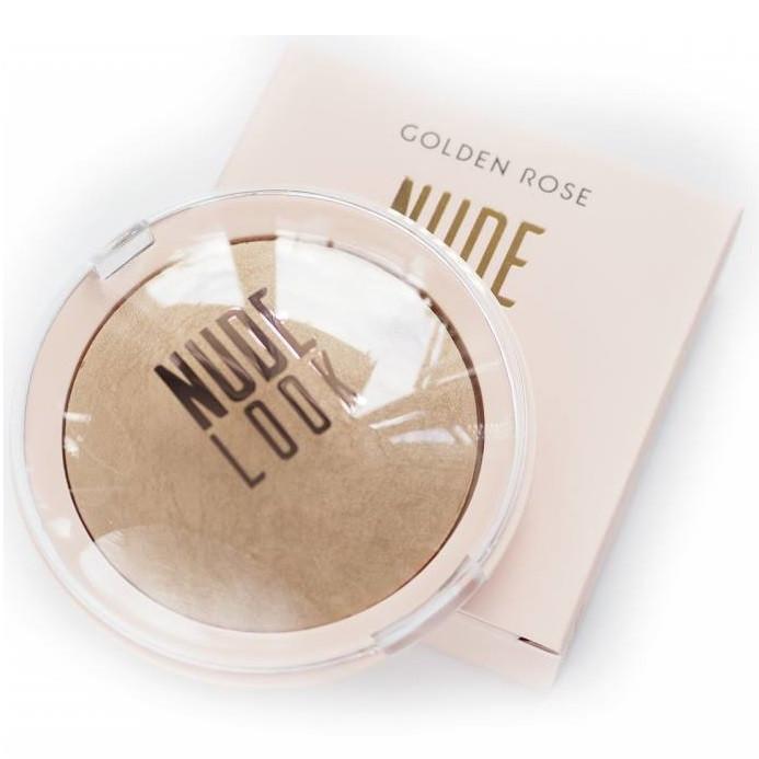 Пудра для лица с мягким эффектом фокусировки Golden Rose Nude Look Sheer Baked Powder