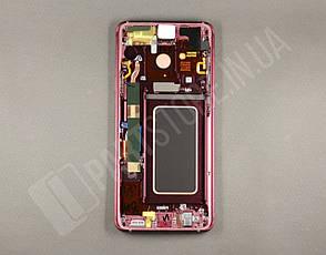 Дисплей Samsung g965 Burgundy Red s9+ (GH97-21691F) сервисный оригинал в сборе с рамкой, фото 2