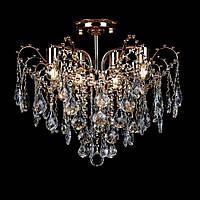 Хрустальная люстра на 6 лампочек золото СветМира VL-L78423/6A/FGD