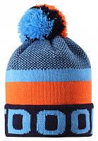 Зимняя шапка-бини для мальчика Lassie by Reima Nikko 728767-6951. Размеры 46/48, 50/52 и 54/56., фото 1