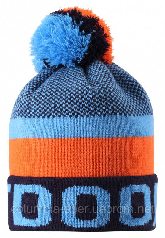 Зимняя шапка-бини для мальчика Lassie by Reima Nikko 728767-6951. Размеры 46/48, 50/52 и 54/56.
