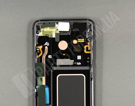 Дисплей Samsung g965 Black s9+ GH97-21691A) сервисный оригинал в сборе с рамкой, фото 2