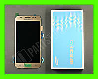 Дисплей Samsung j500 Gold j5 2015 (GH97-17667С) сервисный оригинал