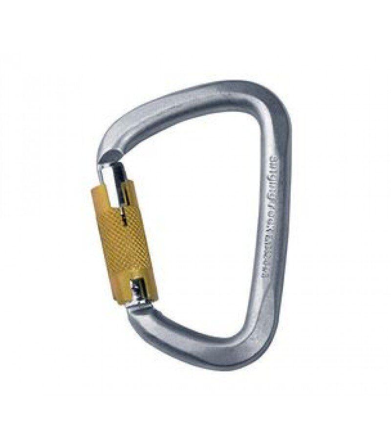 Карабин Singing Rock - D Steel Triple Lock Screw Gate 50kN (SR K4081.ZO)
