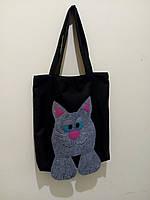 Эко сумка Vikamade Аппликация Кот, фото 1