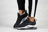 Женские черные кроссовки  Nike Air Max 720  (Реплика ААА+)