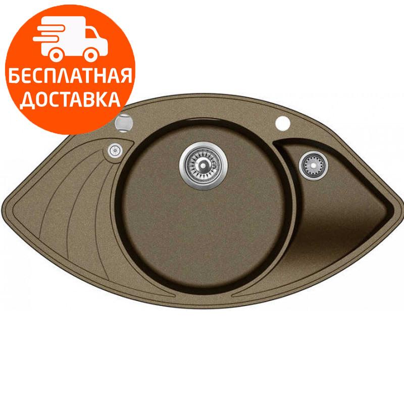Мойка для кухни гранитная Aquasanita Papillon SCP-151AW-301 бронза