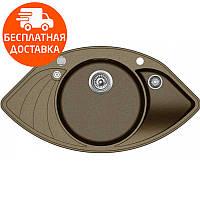 Мойка для кухни гранитная Aquasanita Papillon SCP-151AW-301 бронза, фото 1
