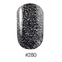 f5d97226db22 Лак для ногтей с вкраплениями №280 (чёрный с большими и маленькими  серебристыми блестками)