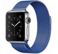 Ремешок металл Milanese Loop for Apple Watch 42/44mm (blue)