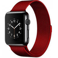 Ремешок металл Milanese Loop for Apple Watch 42/44mm (red)