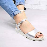 Босоніжки жіночі Marmy срібло ШКІРА , жіноче взуття