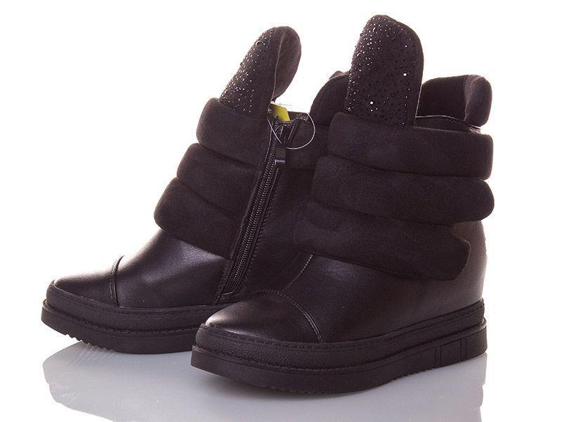 Сникерсы женские Ofra черные стразы , женская обувь