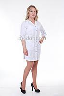 Халат врача женский белый (батист) 2155