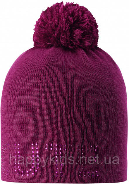 Зимняя шапка-бини для девочки Lassie by Reima Nessa 728768-4840. Размеры 46/48, 50/52 и 54/56.