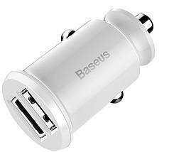 Автомобильное зарядное устройство BASEUS С8-K Grain Mini Smart Car Charger 3.1A (Два USB-порта), фото 3