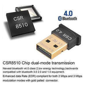 Mini USB Bluetooth 4.0 блютуз адаптер для компьютера Qualcomm CSR8510