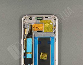 Дисплей Samsung g935 black s7 edge (GH97-18533A) сервисный оригинал в сборе с рамкой, фото 2
