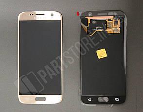 Дисплей Samsung g930 gold s7 (GH97-18523C) сервисный оригинал, фото 2