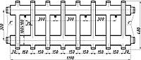 Коллектор стальной с креплением Кк82.150. (300) СК-473.150 (комбинированный)