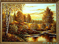 Картина пейзаж из янтаря