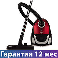 Пылесос Polaris PVB 1604 черно-красный, 1600 Вт, мешок 2 л, очистка пол/ковер/мебель