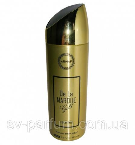 Парфюмированный дезодорант женский De La Marque Gold 200ml