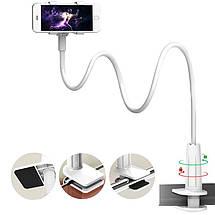 Гибкий механический держатель/подставка для смартфона Mokis M-Z05 (Белый), фото 3