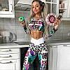 Спортивный комплект для фитнеса (топ+лосины) 4127, фото 3