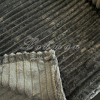Плед-покрывало велюровое 220*200 см. | Покрывало темно-серого цвета | Покрывало для кровати, дивана