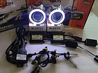 Биксеноновые линзы G5 Би Линзы Cyclon G5 Ultra Plus с ангельскими глазками и комплектом ксенона Cyclon+пров.