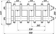 Коллектор стальной с крепл. КГСк62.125.(200) СК-382.125 (комбинированный с гидрострелкой)
