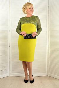 Платье с кружевными рукавами  - Модель Л379-2