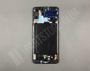 Дисплей Samsung А705 Black А70 2019 (GH82-19747A) сервисный оригинал в сборе с рамкой, фото 2