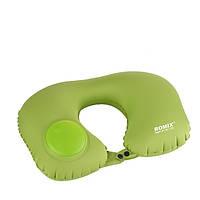 Надувная подушка ROMIX со встроенной помпой Зеленая (RH34GN)