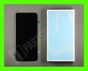 Дисплей Samsung а600 black а6 2018 (GH97-21897A) сервисный оригинал, фото 2