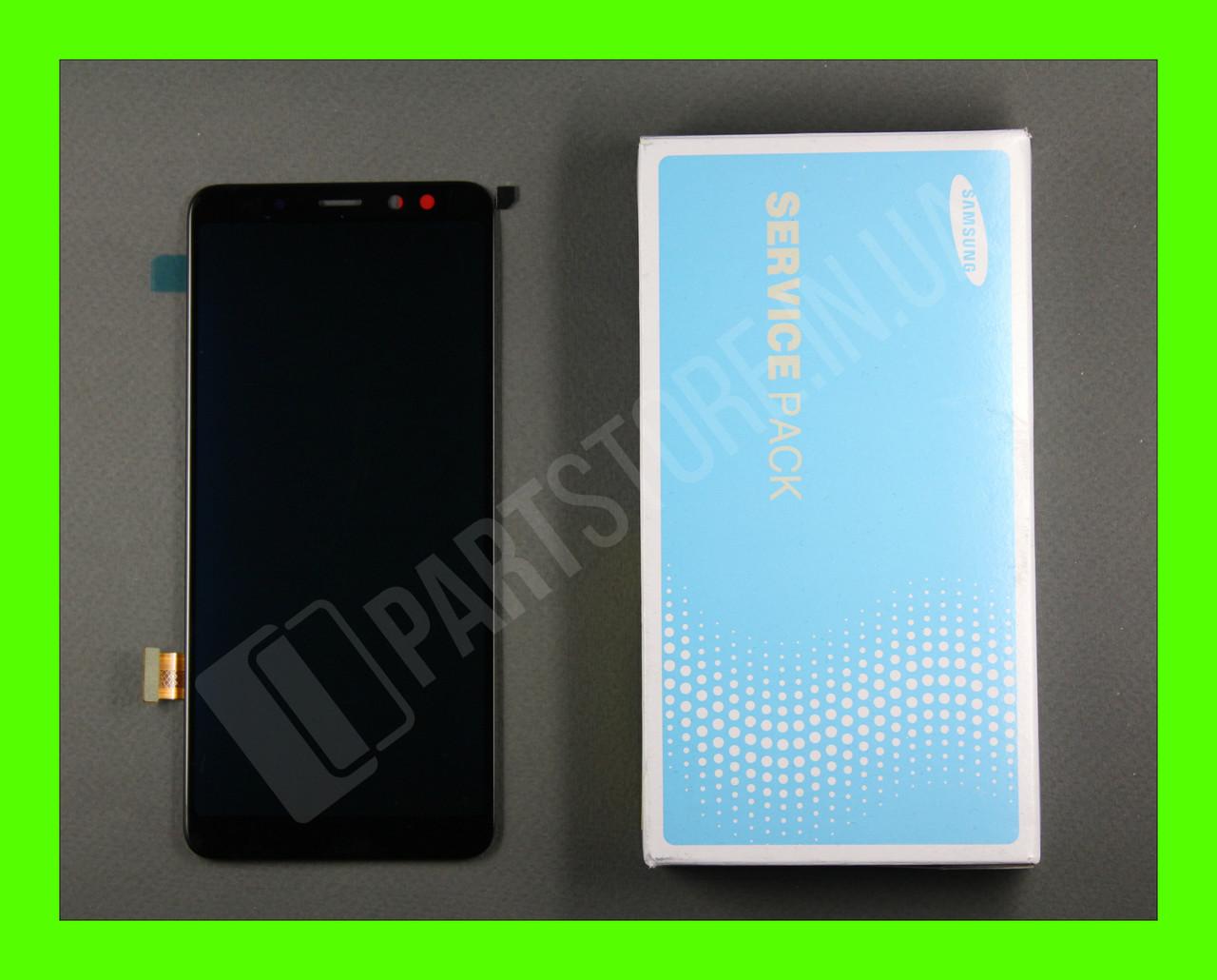 Дисплей Samsung а530 black а8 2018 (GH97-21406A) сервисный оригинал