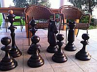 Шахматы парковые напольные дерево массив высота 35-70см