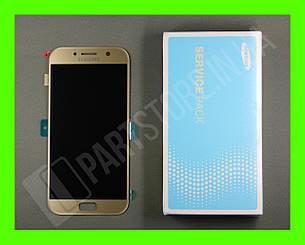 Дисплей Samsung а520 gold а5 2017 (GH97-19733B сервисный оригинал, фото 2