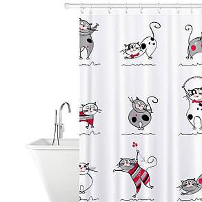 Штора для ванной комнаты Tatkraft 180 х 180 см Веселые Коты (14664), фото 2