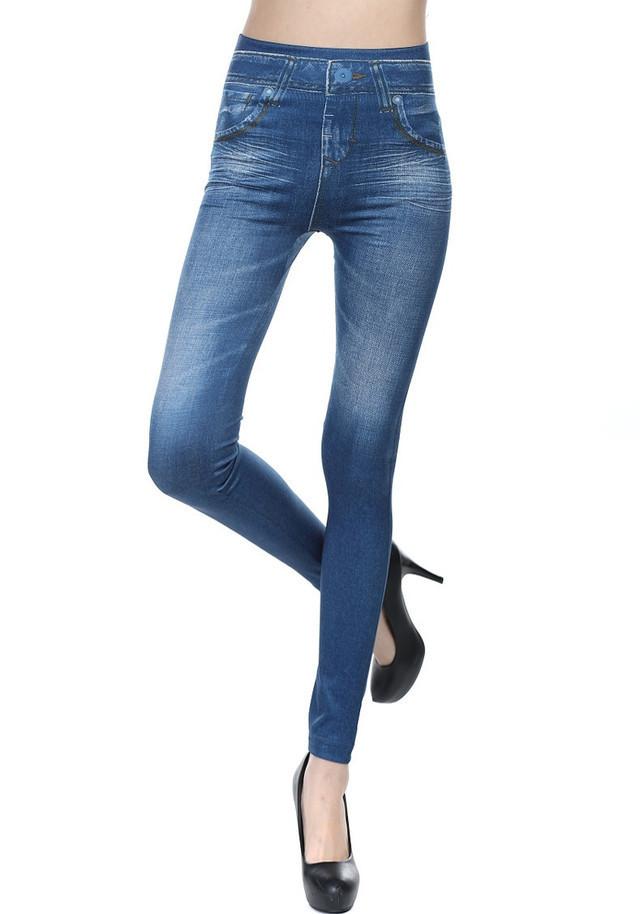 Лосины женские имитация под джинс 6004